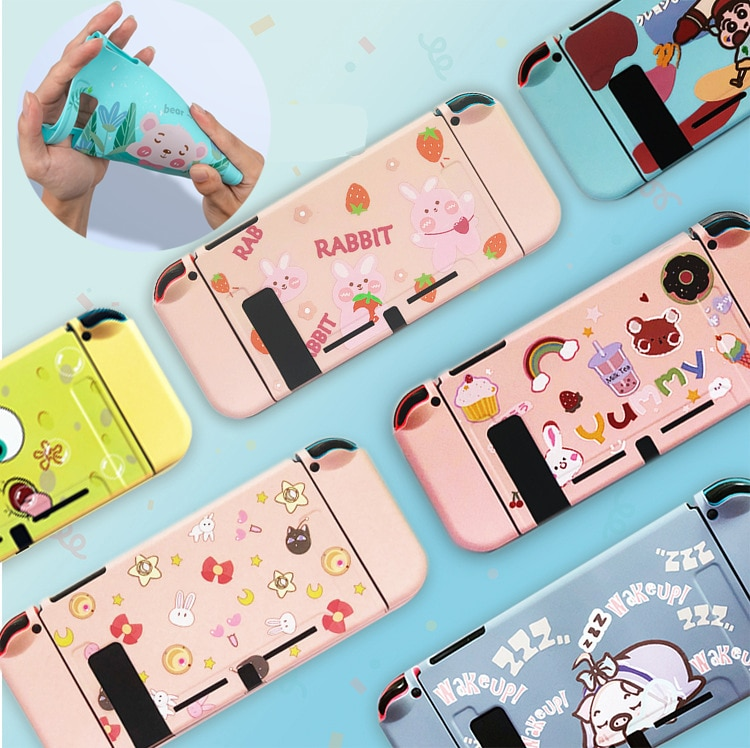 NS Switch Protective Cover Case Colorful Cute Hard PC Skin Shell For Nintendo Switch NS Game Console Joy-con Housing Accessories