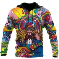 3d hoodies fall in love with hippie guys hoodie menwomen sweatshirt unisex spring casual pullover zipper dropshipping