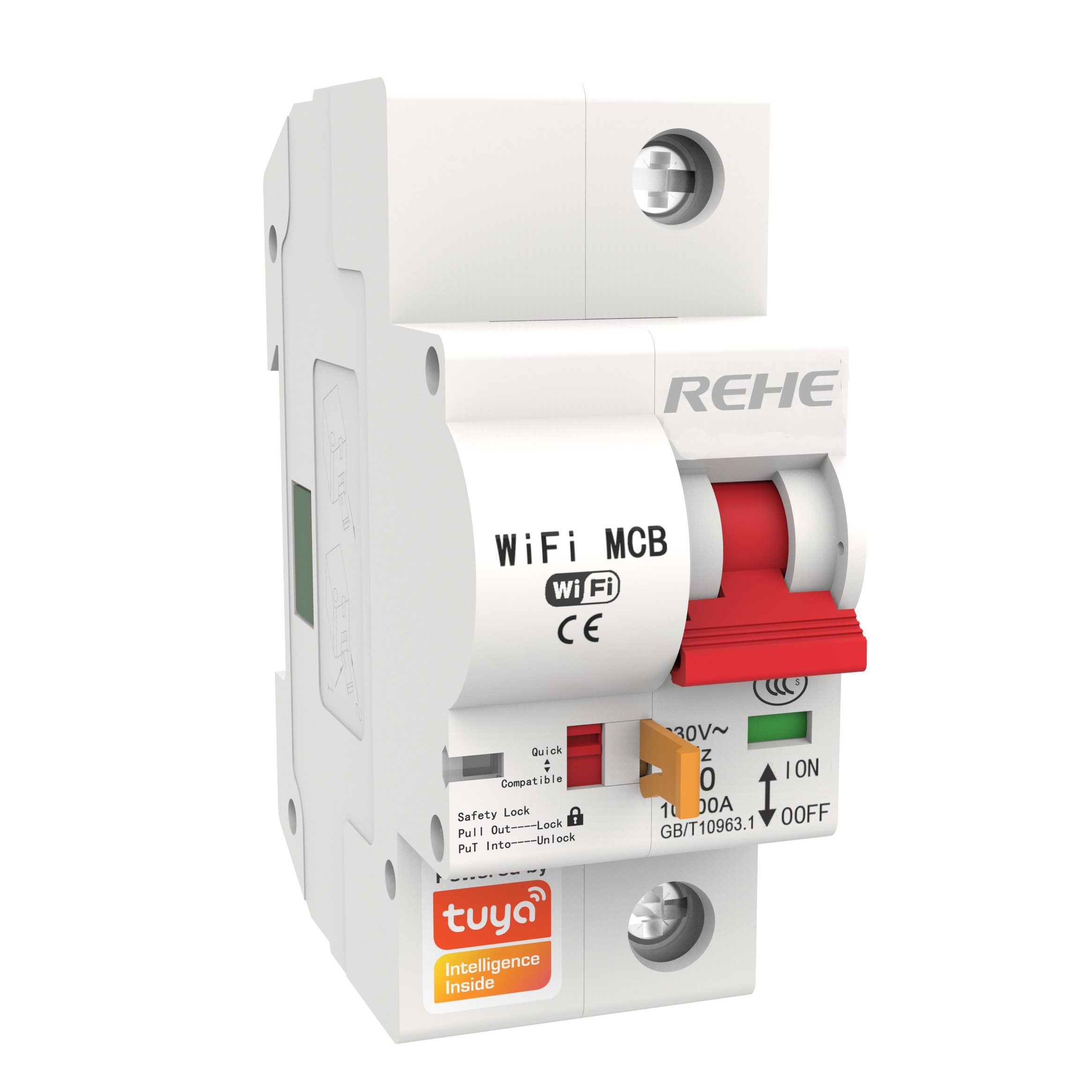1P 2P 3P 4P Remote Control WiFi Circuit Breaker 10A-125A Powered By REHE Third-party Service Alexa Google Assistant IFTTT