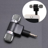 mini 3 5mm jack microphone stereo mic for recording mobile phone studio interview microphone for smartphone