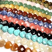 heart shaped agates beads 14pcs strand 15x15x7mm natural beads for jewelry making diy jewelry accessories jewelry
