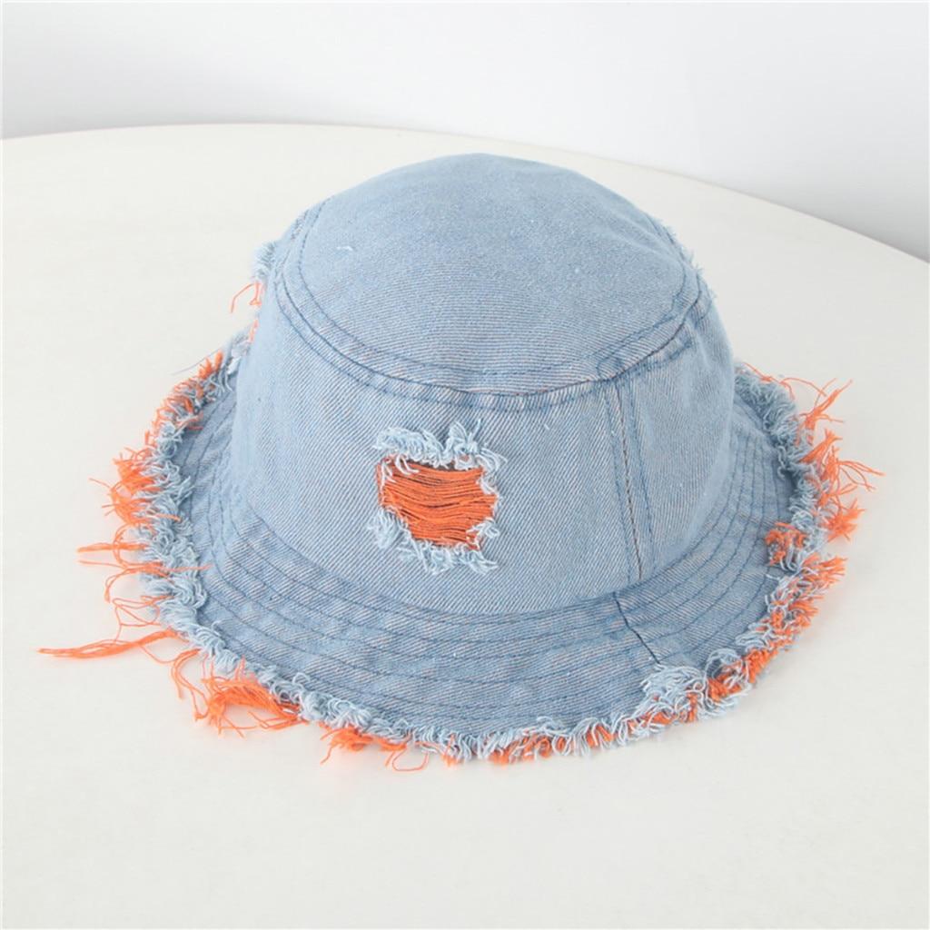 Unisex adultos mujeres hombres cubo sombrero niños flecos vaquero gran borde protección solar verano al aire libre pescador sombrero Cap ла а