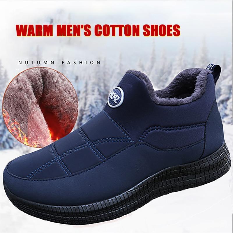 Winter Men Loafers 2020 New Fashion Men Casual Warm Shoes Comfortable Men Fur Flats Driving Footwear Moccasins Men Snow Boots