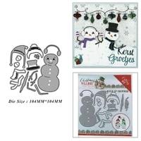 christmas snowman suit metal cutting dies for diy scrapbook album paper card decoration crafts embossing 2021 new dies