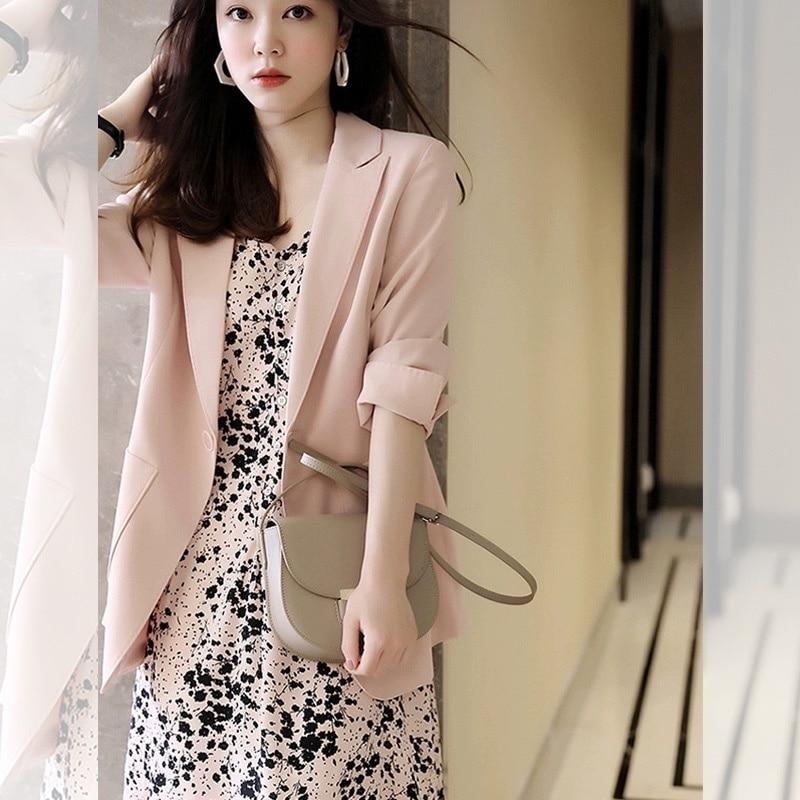 Jednoczęściowy strój nowy zachodni stylowy kombinezon biznesowy dwuczęściowy zestaw Temperament z długim rękawem sukienka kwiatowa dla kobiet wiosną i jesienią