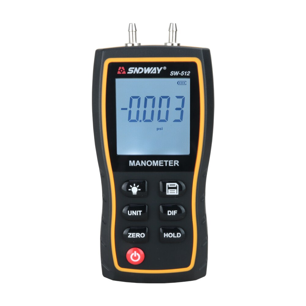 Calibradores de presión de aire de manómetro diferencial Digital de Pantalla LCD portátil SNDWAY