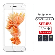 3Pack Tempered Glass For Iphone 6 6plus 6s 6splus Screen Protector Iphone6s Iphone6 Smartphones Scre