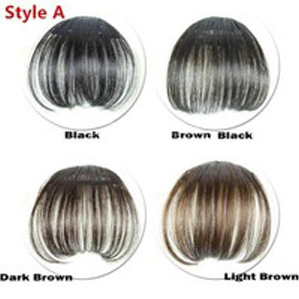 1 Pc Fake Hair Clips Air Bangs Clip In Bangs Front Neat Bangs Fringe Hair Women Clip In Hair Clip Extension Hair Accessories