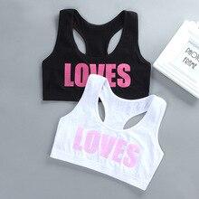 Children Girl Bra Underwear for Puberty Girls Children's Tops Kids Theme of love Underwear Bra Vest