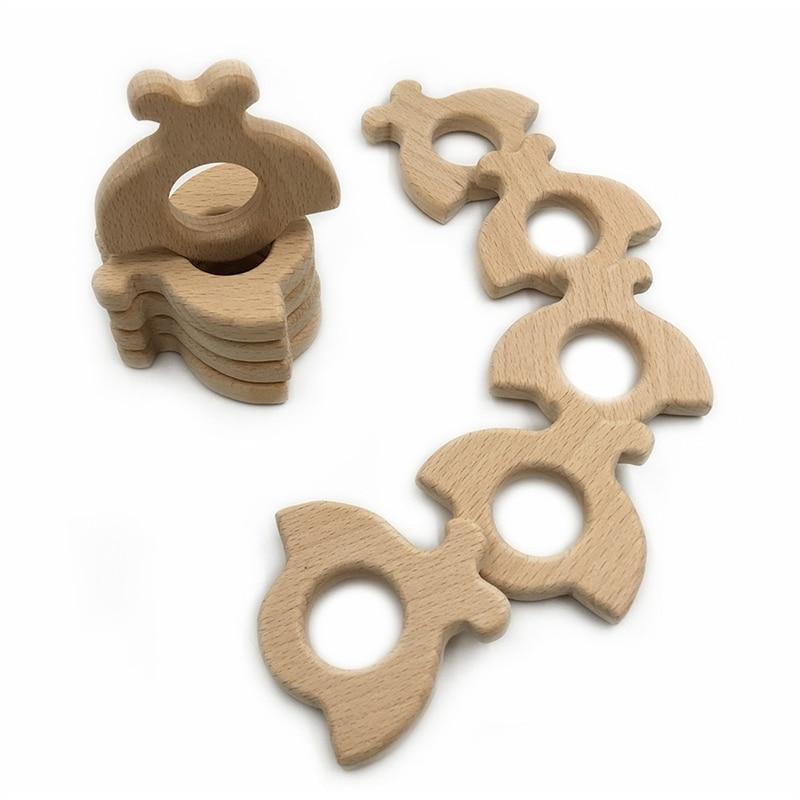 ¡Novedad! mordedor seguro para bebés con forma de mariquita Natural orgánico hecho a mano, colgante personalizado DIY, mordedor seguro para el Medio Ambiente, cuidado Dental