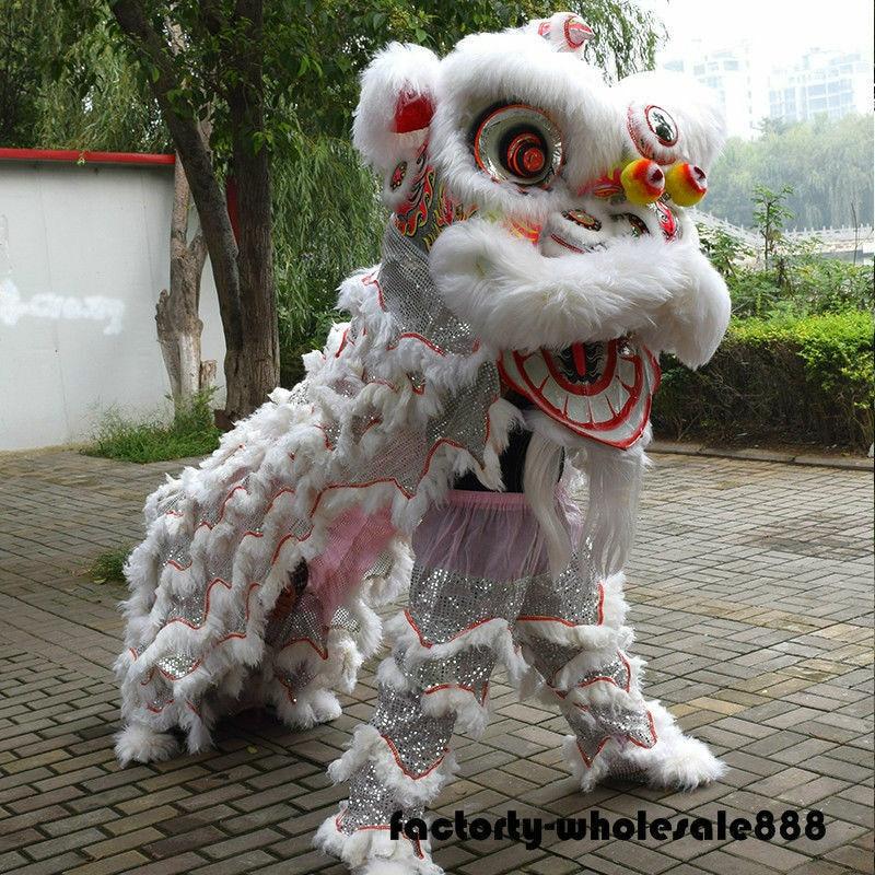 زي أداء الرقص ماسكوت الأسد ، الفن الشعبي الصيني ، ملابس الحفلات ، الكرنفال ، الهالوين ، عيد الفصح