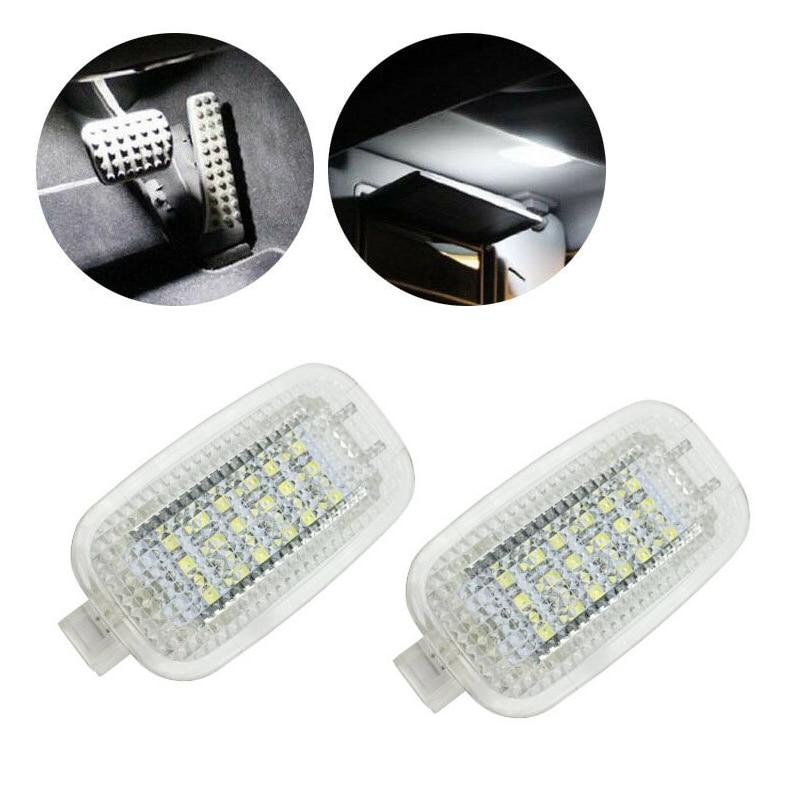 2pcs Car Lâmpadas LED Espelho de Maquilhagem Da Zona Dos Pés Luz Para Mercedes-Benz R230 W204 W212 W207 W221 W216 W251 W164 W463 X164 X204 C197