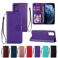flip wallet case for samsung galaxy a32 a52 a72 a12 a31 5g a51 a71 a50 a20 a30 leather coque solid color card slot full cover