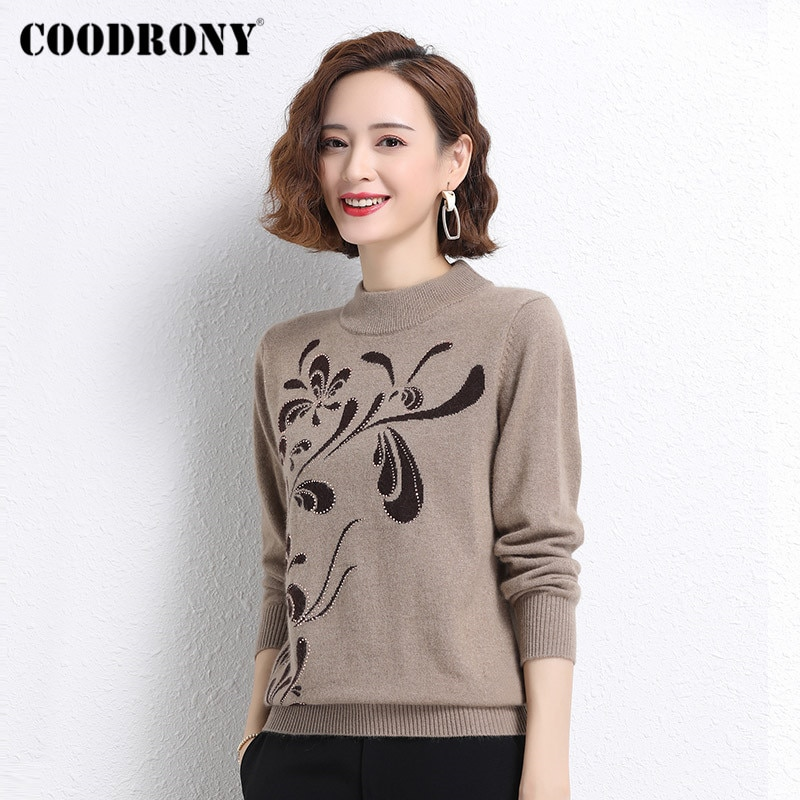 COODRONY Brand Elegant Casual Streetwear Soft Women's Warm Clothing Autumn Winter Knitted Female Thick Turtleneck Sweaters W1414 enlarge