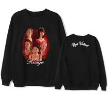 Kpop red velvet la rouge concert photo same printing pullover hoodies unisex fashion fleece/thin o neck sweatshirt
