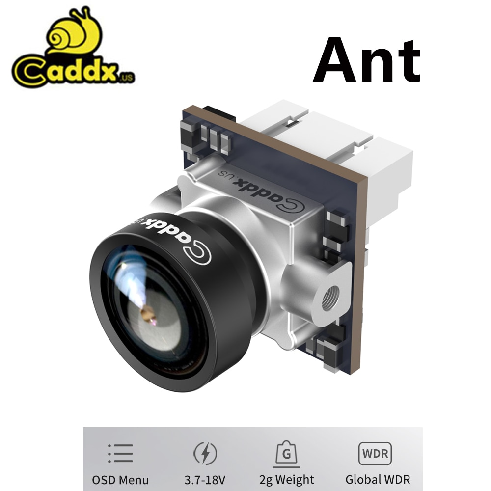 Caddx Ant FPV كاميرا 1200TVL العالمي WDR OSD 1.8 مللي متر عدسة 2g الترا ضوء نانو FPV كاميرا لايت كام الارتفاع نسبة 16:9 4:3 NTSC PAL