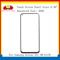 10pcslot for samsung galaxy a11 a115 sm a115f sm a115m touch panel front outer a11 lcd glass lens with oca replacement parts