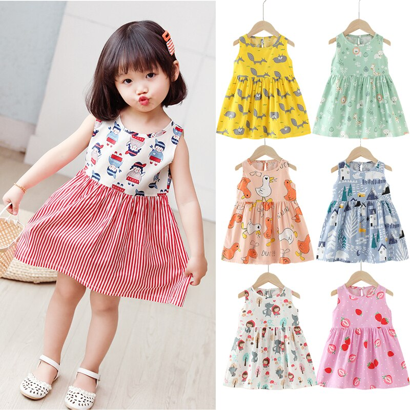 Baby Girl Cotton Dress Summer Kids Childrens Clothing Dresses for Girls Toddler Birthday Party Princess