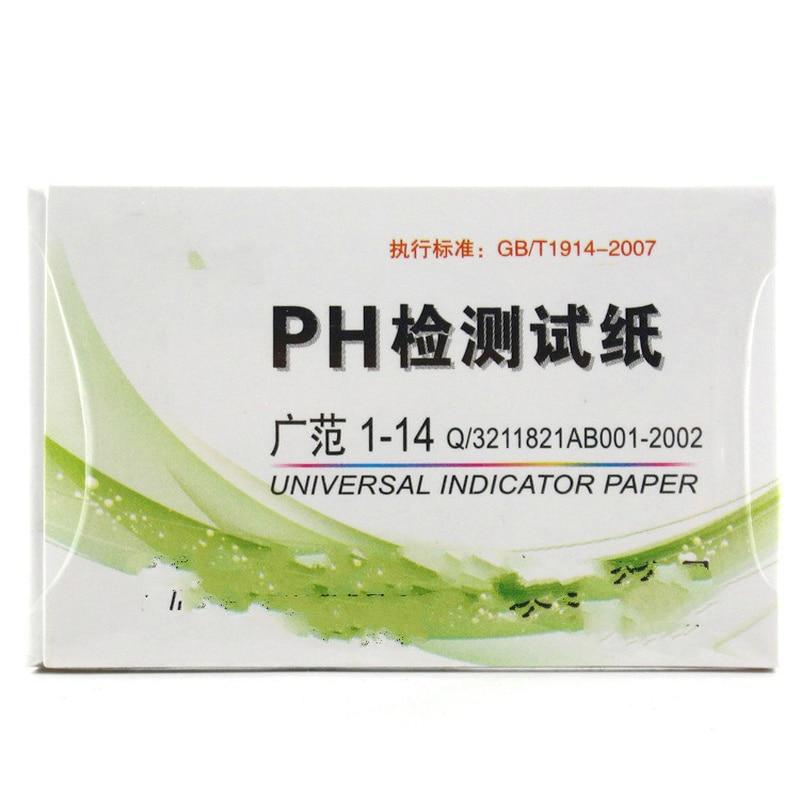 80 streifen/pack test pape Universal Anzeige pH 1-14 Vollständige Palette chemikalien boden urin kosmetische säure