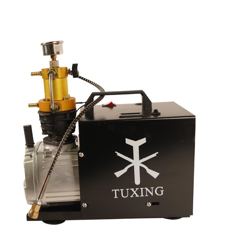 TXES031 TUXING 4500Psi 300Bar Pcp ضاغط الهواء الكهربائية مضخة عالية الضغط لهوائي PCP بندقية Airgun الغوص نافخة