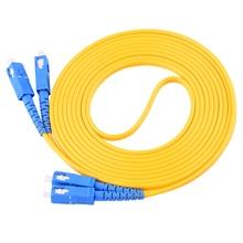 5 adet/grup SC/UPC SC/UPC Singlemode dubleks Fiber optik bağlantı kablosu kablosu