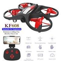 Радиоуправляемый квадрокоптер KF608, мини-Дрон с HD Wi-Fi и камерой 720p, вертолет, время полета 8 минут, удерживание высоты, Безголовый режим, 2,4G, игр...