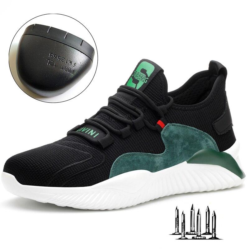 Dropshipping homens mulheres sapatos de trabalho de aço toe boné botas de segurança padrão europeu anti-smash anti-punctura sapatos de desporto sapatos de segurança