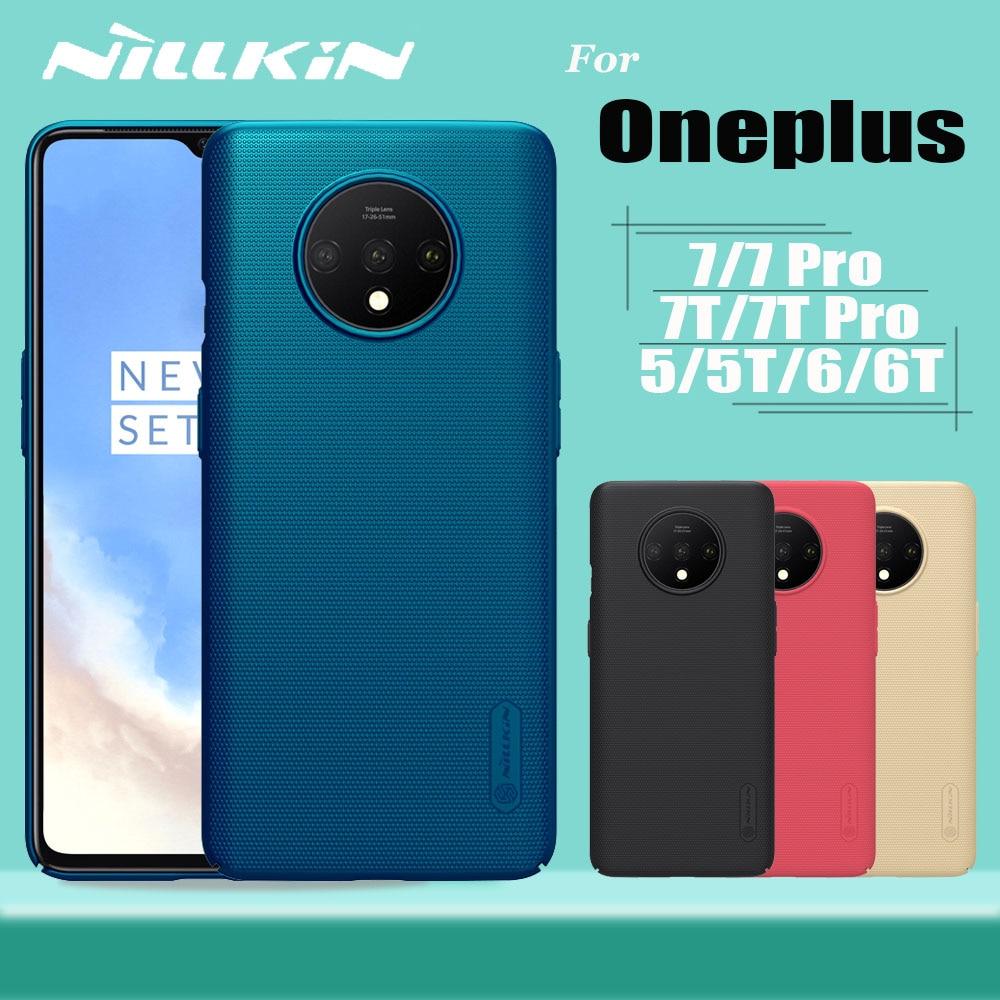 Funda Nillkin Funda para OnePlus 3 5 5T 6 6T 7 7T Pro Funda mate dura Funda completa para teléfono en carcasa OnePlus 7T 7 Pro 6T