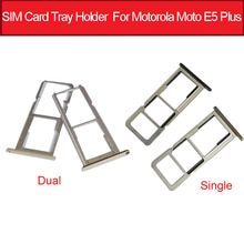 Una bandeja de tarjeta SIM Dual soporte para Motorola Moto E5 Moto E Plus (5th Gen) XT1924 Lector de Tarjetas Micro SD partes de adaptador de ranura