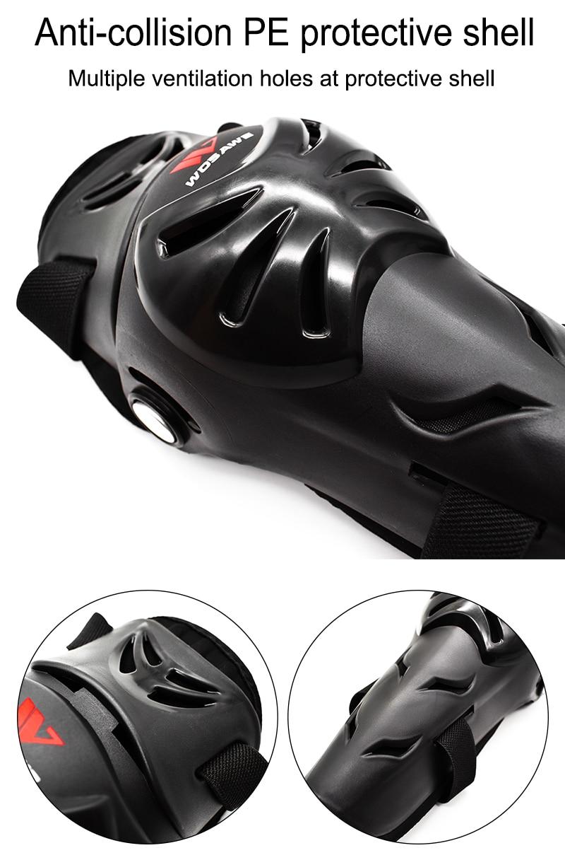 WOSAWE Teenager Motocross Knee Pads Gear Set Ski Snowboard Hockey Roller MTB Sports Racing Elbow Protector Suit Moto Equipments enlarge