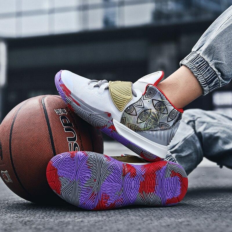 Модная Уличная обувь; Пара баскетбольные кеды женские и мужские баскетбольные кеды для мужчин дышащей кожане мужские Крутая обувь кроссовк...
