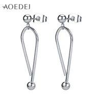 aoedej 2pcs womens stainless steel stud earrings vintage ear stud jewelry for girls classic stud earrings accessories