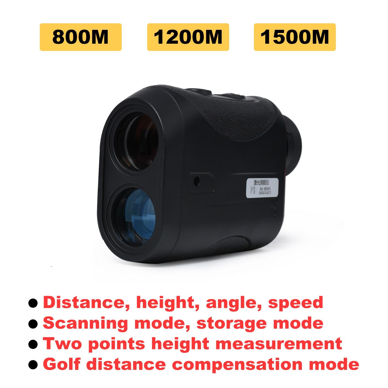 تلسكوب ليزر 8X ، جهاز تحديد المدى من 800 متر إلى 1500 متر ، جهاز تحديد المدى أحادي الليزر للصيد ، جولف ، قياس السرعة ، الزاوية ، الارتفاع