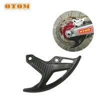 otom rear brake disc cover motocross dirt street bike carbon fiber cover for honda crf250r crf250x crf450r crf450x