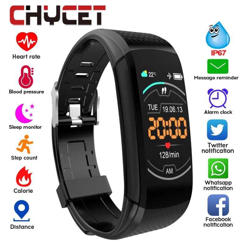 Smart Band Fitness Bracelet Blood Pressure Measurement Fitness Tracker Waterproof Smart Watch Heart