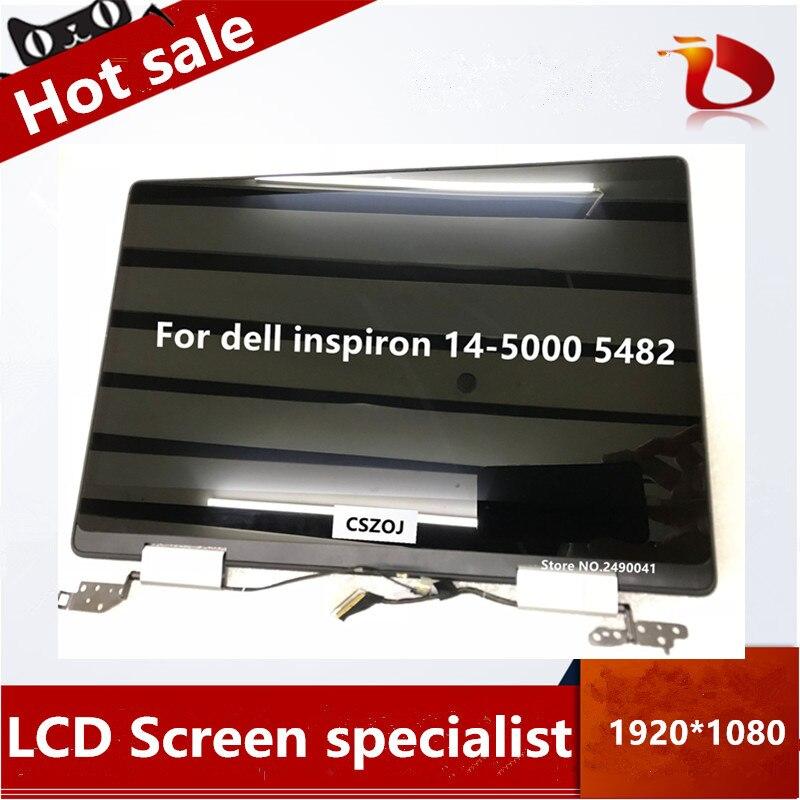 """Libre shipping14 """"Pantalla LCD con pantalla táctil para dell inspiron 14-5000 5482*1920*1080 de plata"""