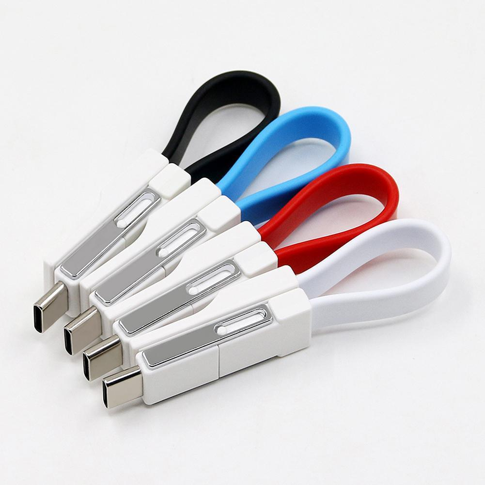 Cable Mini USB 3 en 1, teléfono móvil, magnético, 13CM, tipo de carga portátil, datos, Pin, llavero con cargador, Cables Cable USB/8 C/Micro D9X5