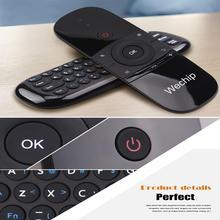 W1 Ultra-dünne 2,4G Air Maus Drahtlose Tastatur Motion Sinn IR Lernen Fernbedienung für Smart TV Android TV BOX