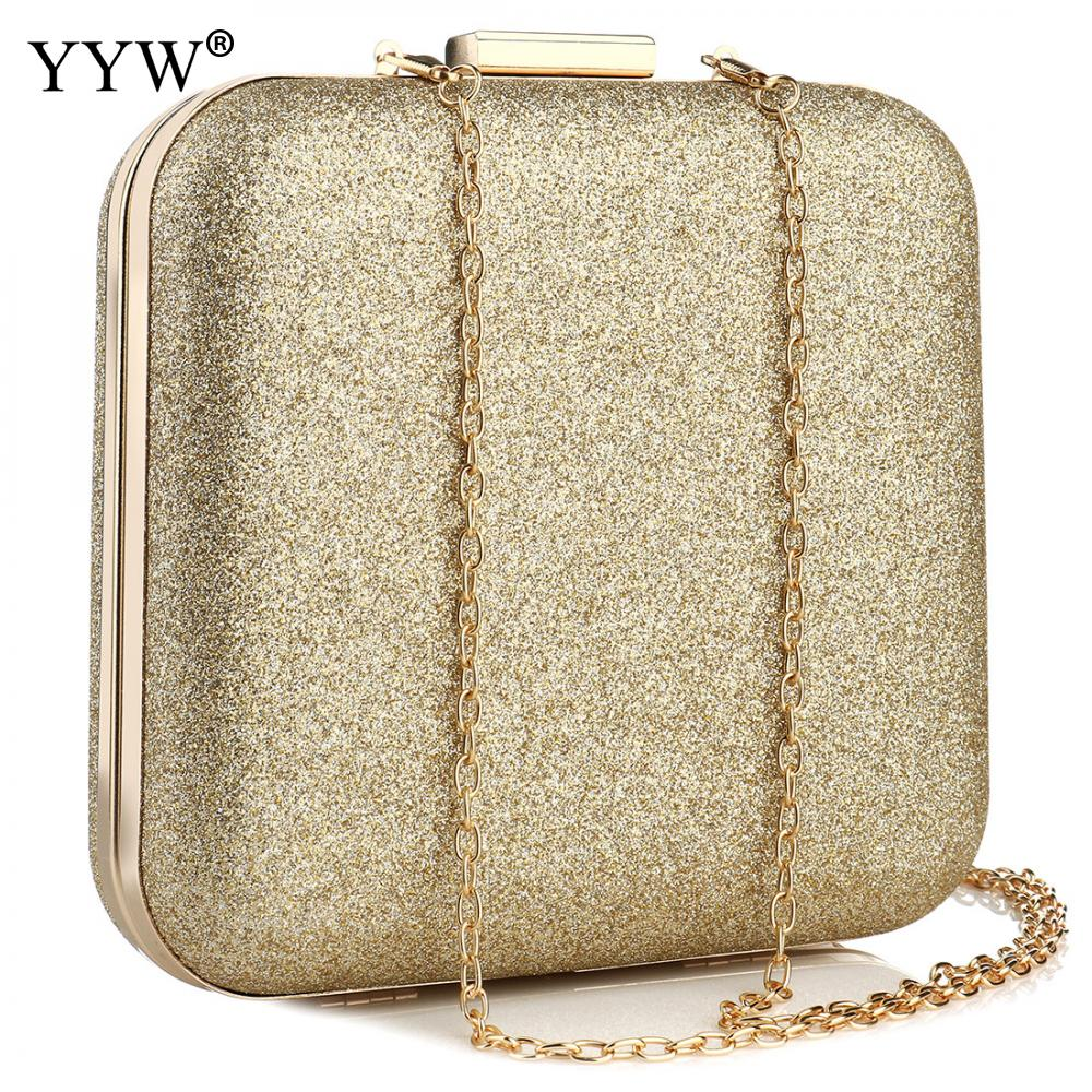 حقيبة يد ذهبية مطرزة للنساء ، حقيبة يد مربعة ، جيب بمقبض ، لحفلات الزفاف