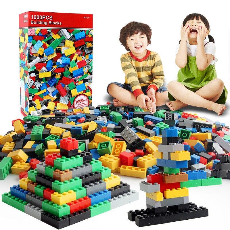 1000 Uds DIY bloques de construcción figuras de ladrillos juguetes educativos creativos compatibles para niños regalo