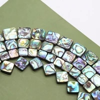 5pcs natural shell abalone shell square beads loose beads for diy women fashion boutique bracelet necklace earrings accessories