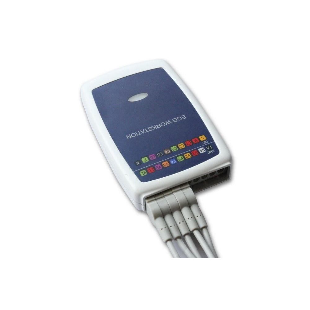جهاز تخطيط كهربية القلب متعدد الوظائف للكمبيوتر الشخصي مزود بـ 12 رطلاً لاستراحة تخطيط كهربية القلب ، اتصال جديد 8000 جرام