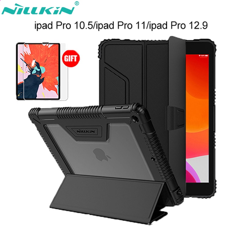 dux ducis skin pro origami smart leather stand case for ipad pro 12 9 2017 Nillkin PU Leather Smart Case Stand for iPad Air 4 case /Air 2019/ Pro 10.5 2017/Mini 2019/Mini 4/Pro 11 2018/Pro 12.9 (2018)