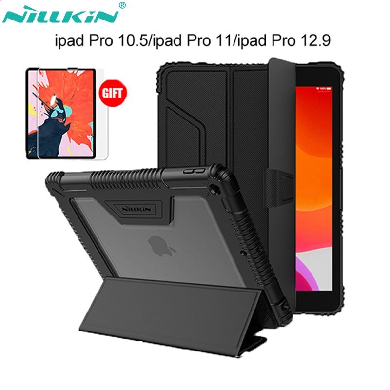 Nillkin بو الجلود الذكية حامل حافظة لجهاز iPad Air 4 Case/Air 2019/ Pro 10.5 2017/Mini 2019/Mini 4/Pro 11 2021/Pro 12.9 2020/2021