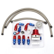 Универсальный Регулируемый регулятор давления топлива масла 160 psi манометр AN6 Топливопровод шланга фитинги конец комплект
