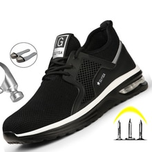 Indestructible Man Safety Shoes Light Non-Slip Work Sneakers Breathable Shoes Men Steel Toe Puncture