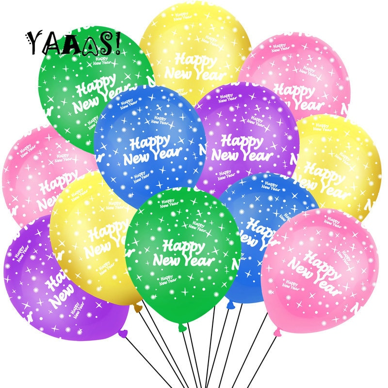 15 pçs feliz ano novo látex balões 2021 decorações de festa decorações de casamento hélio globos chuveiro do bebê ballon festa de aniversário