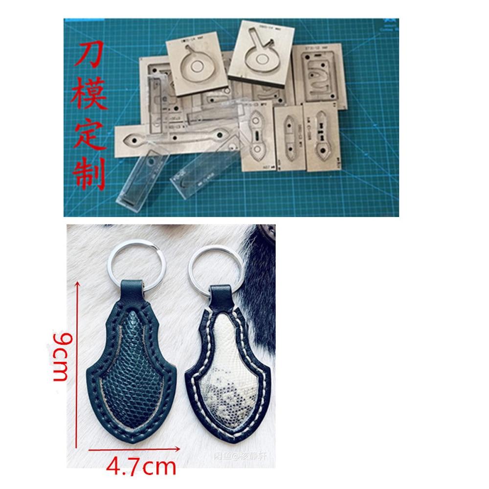 DIY leder handwerk schlüssel ring dekoration stanzen messer form metall punch klinge höhlte muster