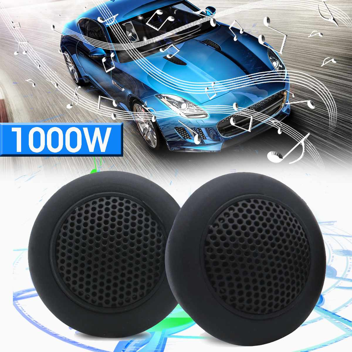 2pcs 89db 1000W HIFI Micro Dome Tweeters de Áudio Do Carro Alto-falantes de Música Altifalante de Corneta Automóvel Estéreo Agudos Falante Tweeters