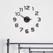 2019 3D Clocks Mirror Acrylic Modern DIY Wall Clock Surface Sticker Office Home Decor wall sticker Room Decor Sticking Clock A40